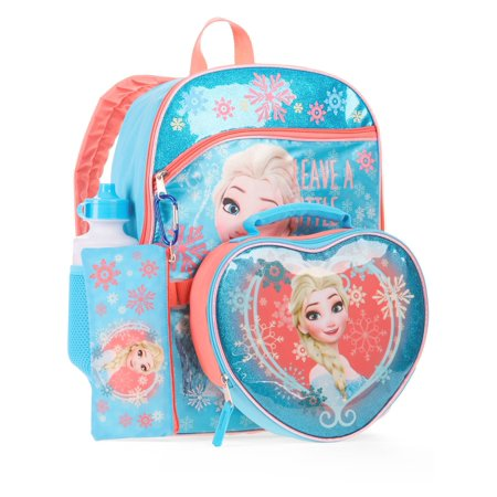 Frozen Elsa 5-Piece Backpack With Lunch Bag - Backpack With Lunchbox