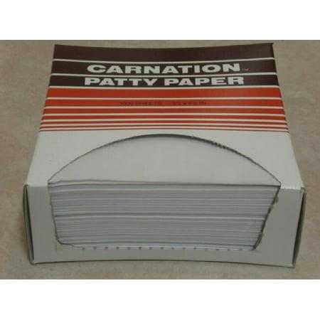 """Carnation Patty Paper - Box of 1000 Sheets: Single Box, 5.5"""" x 4.75"""