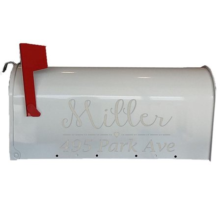 VWAQ Personalized Mailbox Numbers Decal Set ()
