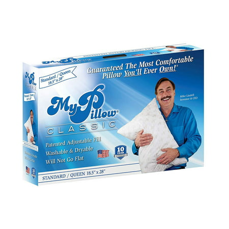 MyPillow Classic Series Foam Queen Sized Bed Deep Sleep Pillow, Green Firm Fill