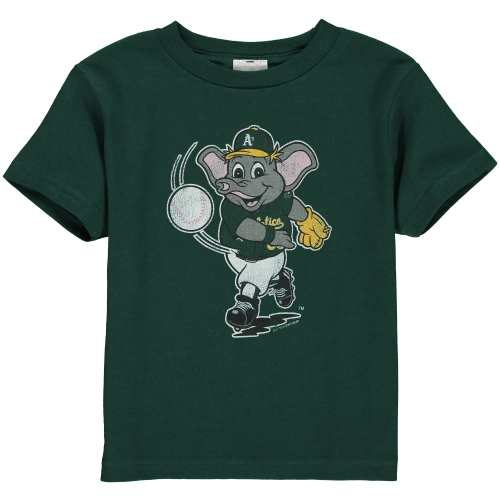 Oakland Athletics Toddler Distressed Mascot T-Shirt - Green