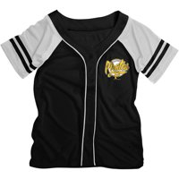 MLB Pittsburgh Pirates Girls Short Sleeve Button Down Mesh Jersey