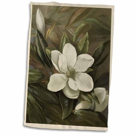Magnolia Bath Towel (3dRose Magnolia Grandflora - Towel, 15 by 22-inch)