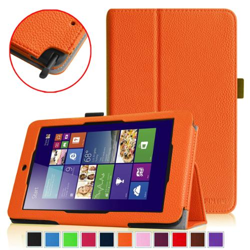 Fintie Folio Leather Case Cover for ASUS VivoTab Note 8 M80TA Tablet (Windows 8.1), Orange