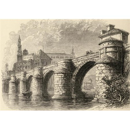 Posterazzi DPI1857149LARGE Bridge At Saragossa Spain From The Book Spanish Pictures by The Rev Samuel Manning Published 1870 Poster Print, Large - 34 x 24 - image 1 de 1