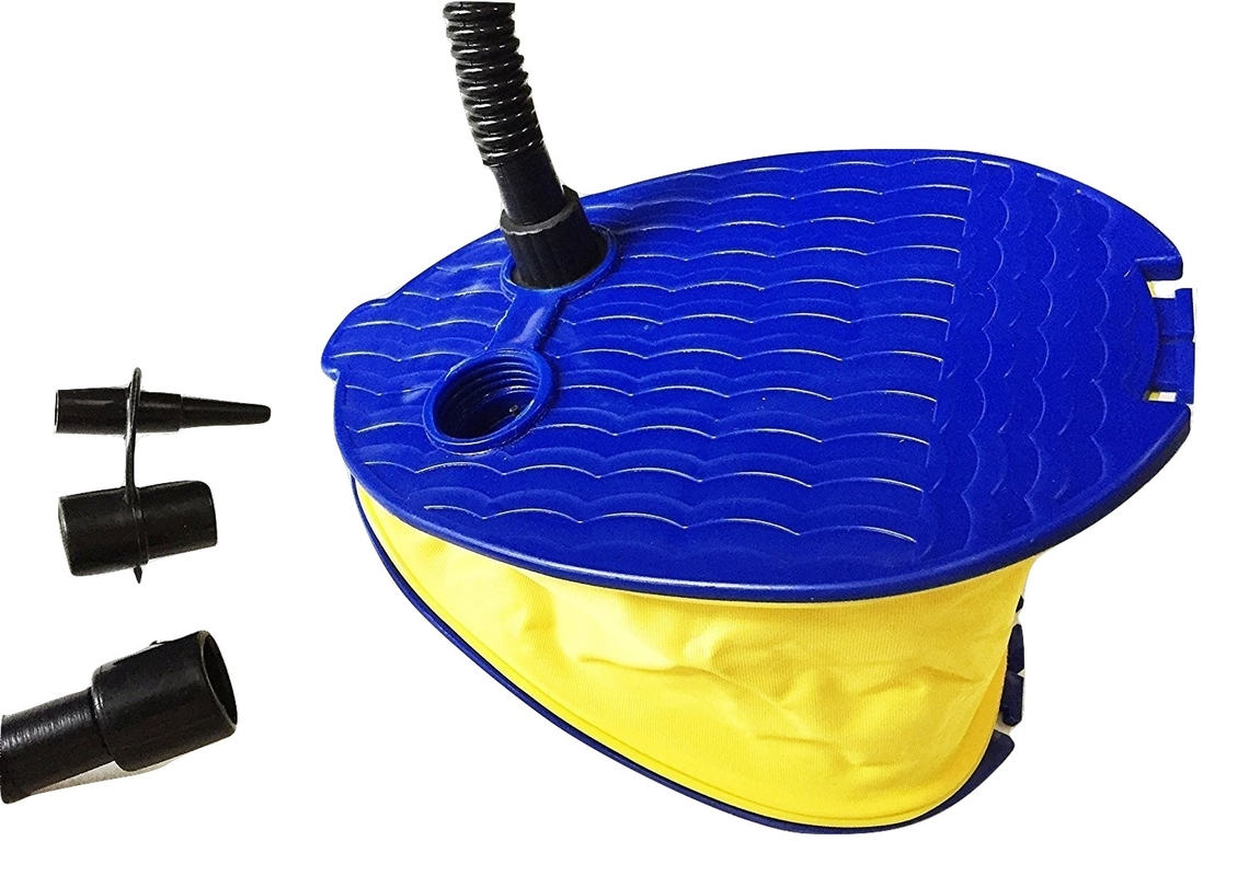 zaltana Foot Air Pump with 3 Nozzle, Yellow, 9\ by