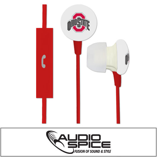 Ohio State Buckeyes Ignition Earbuds + Mic