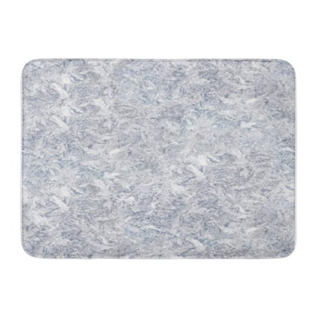 KDAGR Blue Frost Ice Gray Black Crystal Abstract Doormat Floor Rug Bath Mat 30x18 inch 95 Ice Grey Vessels