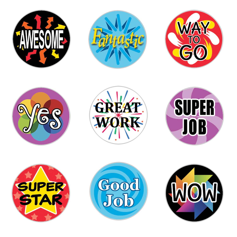 Reward Stickers for Kids - 1,080 count - Teacher Classroom Supplies Stickers - Set of 1,080