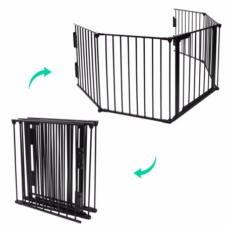 25quotx30quot fireplace fence baby safety pet gate dog barrier for Dog fence for inside house