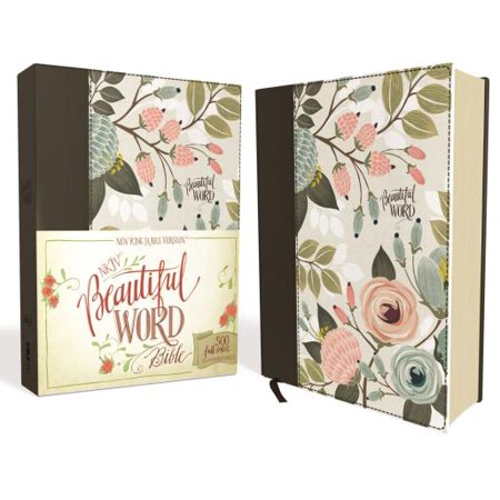 NKJV, Beautiful Word Bible, Hardcover, Multi-Color Floral Cloth, Red Letter Edition : 500 Full-Color Illustrated