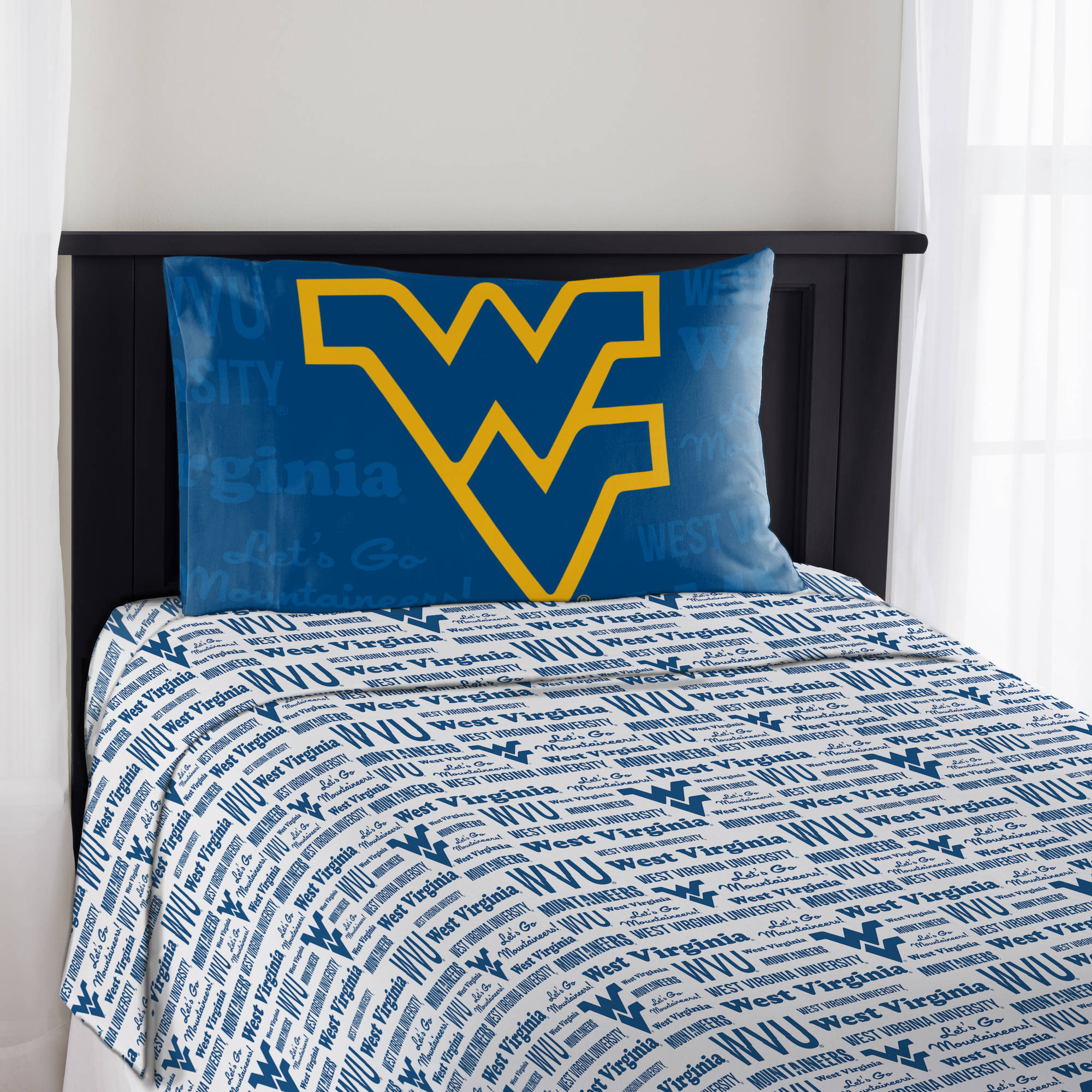 "NCAA West Virginia Mountaineers ""Anthem"" Sheet Set"