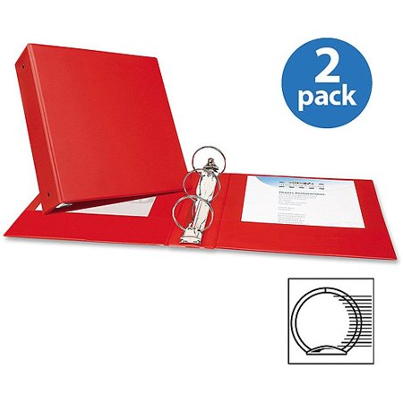 Red Pressguard Binder Covers ((2 Pack) Avery(R) Economy Binder with 3