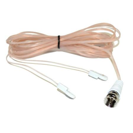 HQRP FM Antenna F-Type Connector for Yamaha HTR-5740 RX-A1060 RX-V595 HTR-3064 HTR-5650 RX-V640 HTR-5130 AV Receiver + HQRP Coaster - image 2 de 3
