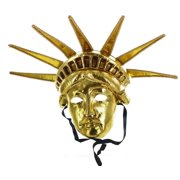 Lady Liberty Adult Costume Mask: Gold