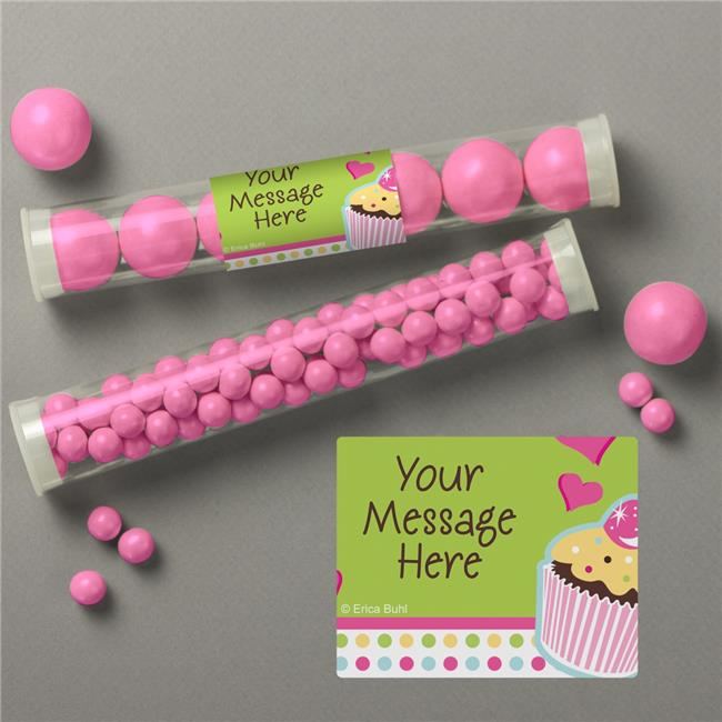 Costume Supercenter BB018857TUBE Cupcake Birthday Personalized Candy Tubes