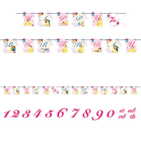 Beauty and the Beast Ribbon Banner (Each) - Beauty And The Beast Birthday Party Decorations