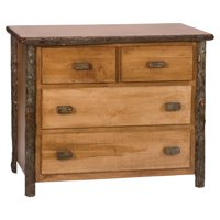 Fireside Lodge Hickory 4 Drawer Low Chest