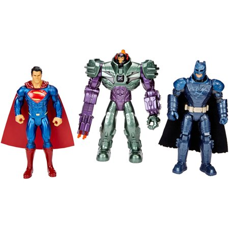 Batman V Superman  Dawn Of Justice Batman  Superman And Lex Luthor Figure  3 Pack