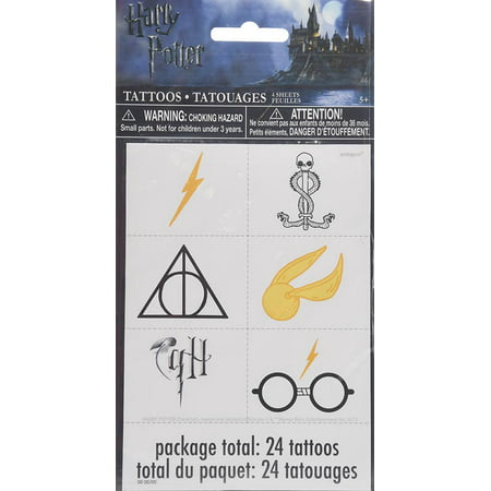 Harry Potter Color Tattoos, 24ct - Harry Potter Temporary Tattoos