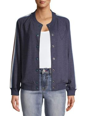 EV1 from Ellen DeGeneres Ombre Stripe Bomber Jacket Women's