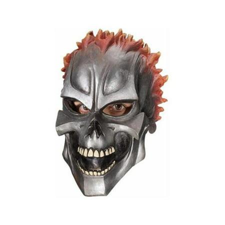 Motor Skull Vinyl Adult Mask - Halloween Prop Vent Motor