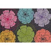 """The Rug Market Zelda Floral Grey 2.8"""" x 4.8"""" Area Rug"""