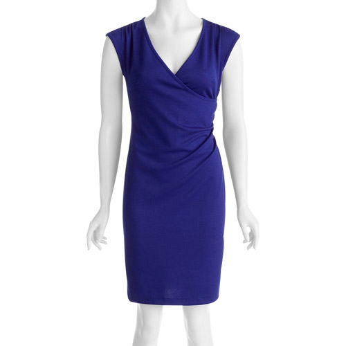 Alexis Taylor Women's Faux Wrap Cap Sleeve Ponte Dress
