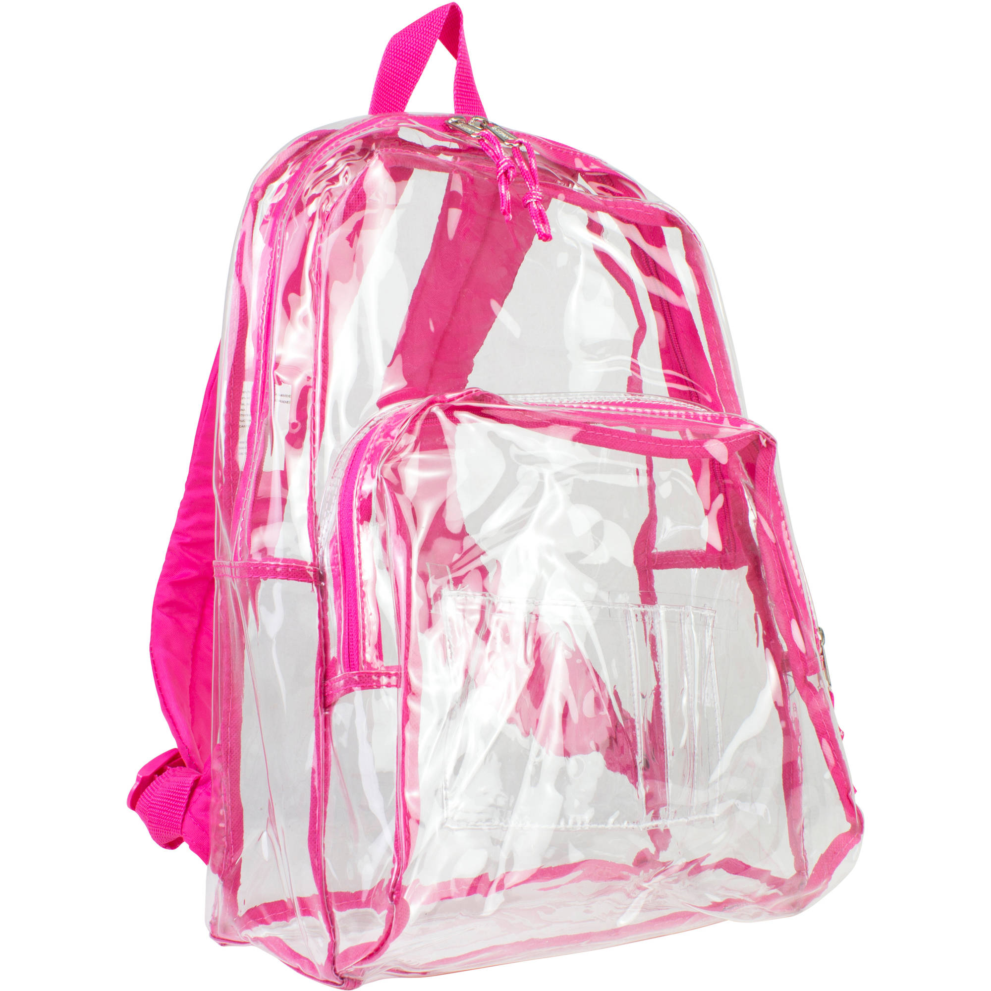 "Eastsport 17.5"" Clear with Pink Trim Backpack"