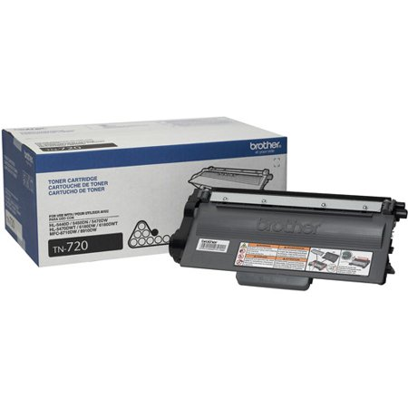 Brother Genuine Standard Yield Toner Cartridge, TN720, Replacement Black Toner, Page Yield Up To 3,000 pages