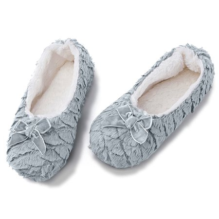Womens Fuzzy Christmas House Slippers Ladies Cute Bedroom Indoor ...