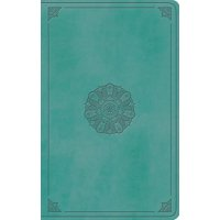 ESV Large Print Value Thinline Bible (Trutone, Turquoise, Emblem Design) (Other)(Large Print)