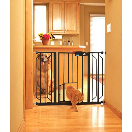 Carlson Super Wide Walk Through Pet Gate Black Walmart Com