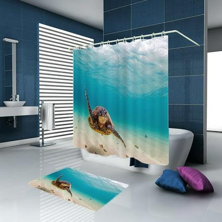 Swimming turtle Rollerball Shower Bath Mat Bathroom Bath Mat - image 5 de 5