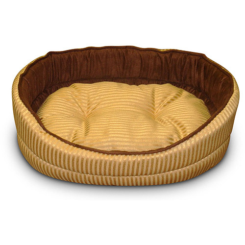 """16"""" Oval Pet Bed - Gold"""