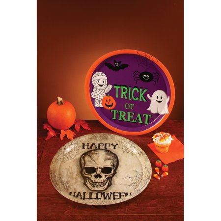 Fun World Large Round Assrtd. Halloween Party Tray Serving Tray, 13.75