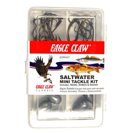 Eagle claw saltwater mini tackle kit for Fishing kit walmart