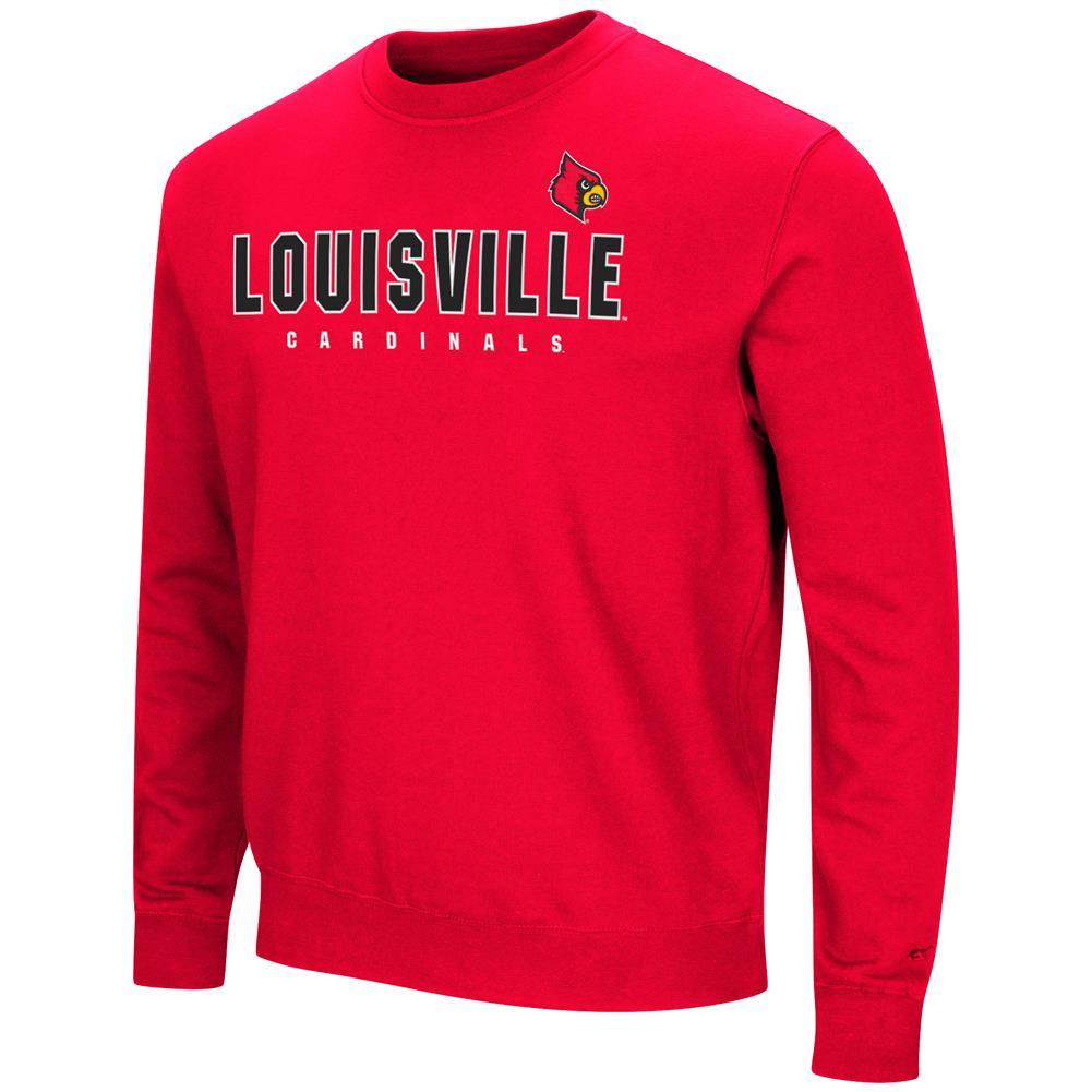 Louisville Cardinals Sweatshirt Playbook Crew Neck Fleece