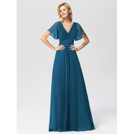 Ever-Pretty Womens Plus Size Wedding Party Bridesmaid Dresses for Women  09890 Teal Blue US26