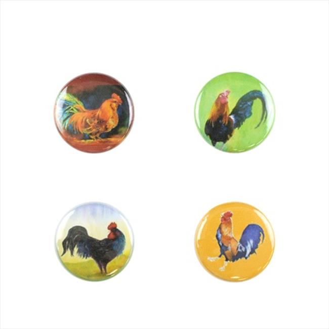 Wine and Drink Charms Animal Collection - Colorful Roosters - image 1 of 1