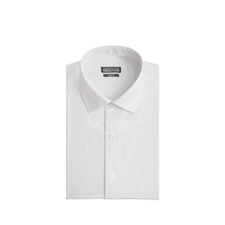 Kenneth Cole Chambray Slim Fit Spread Collar Dress (Forzieri Variegated Stripe Dress Shirt)