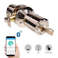 Bluetooth Keyless Security Smart Lock with App Backup Mechanical Key Silver