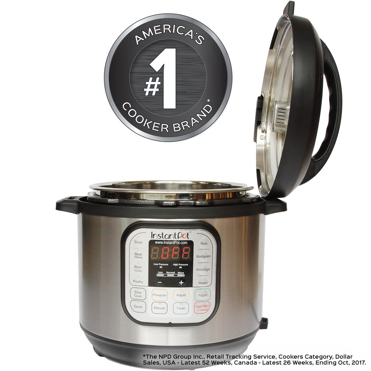 Instant Pot 8 Qt 7-in-1 Multi- Use Programmable Pressure Cooker, [ Pressure Cooker, Rice Cooker, Steamer, Saute, Yogurt Maker and Warmer, ... ] New!