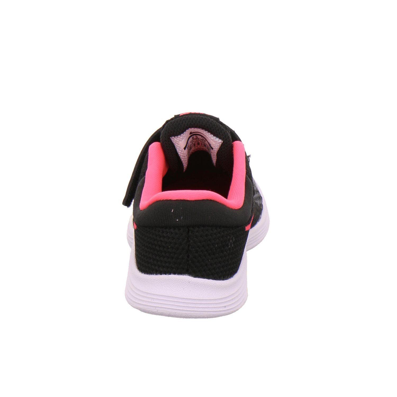 TDV NIKE Girls/' Revolution 4 Running Shoe Black//Racer Pink White # 943308-004
