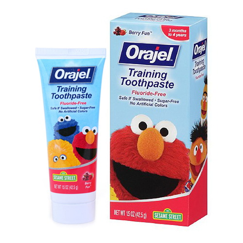 Orajel Toddler Training Toothpaste, Fruit Splash - 1.5 Oz, 6 Pack
