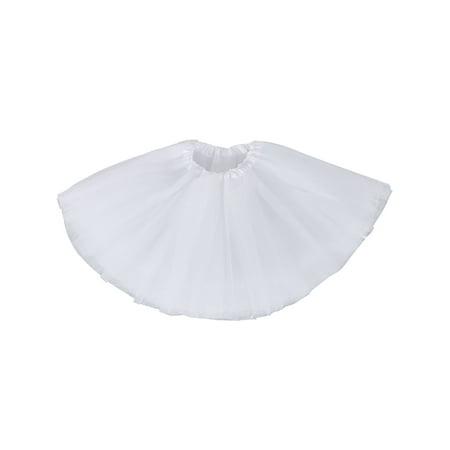 Girls Birthday Tutu Skirt Ballet Dance Tutu Dress for 2-8 Years,White - Ballet Dress For Girls