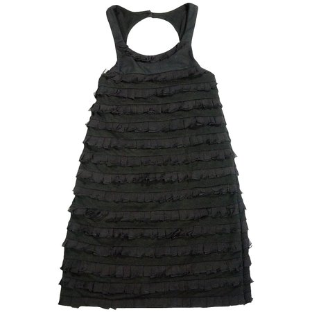 Flowers by Zoe - Big Girls Sleeveless Party Dress - 3 Styles - 30 Day Guarantee Black /