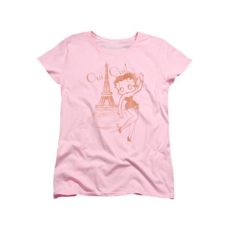 Betty Boop Cartoon Oui Oui Women's T-Shirt Tee