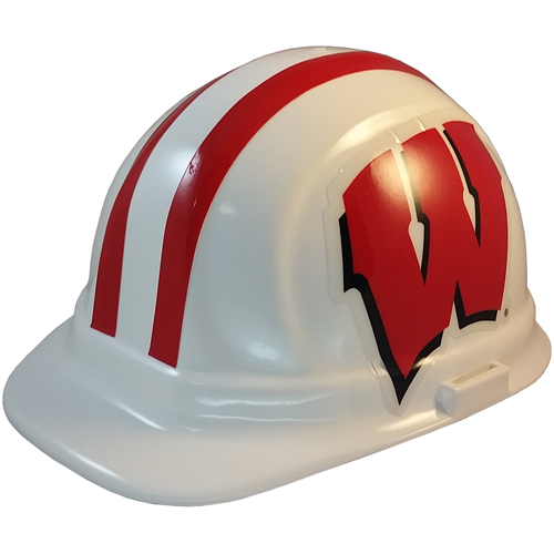 NCAA Wisconsin Badgers Hard Hats with Ratchet Suspension