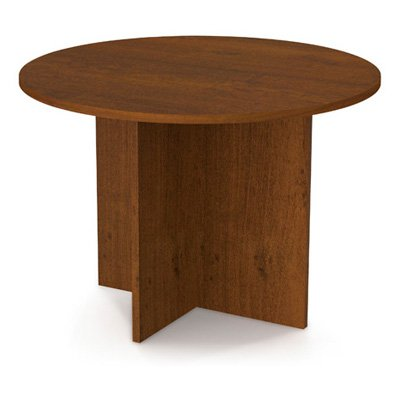 Bestar 42 in. Round Meeting Table Tuscany Brown by Bestar